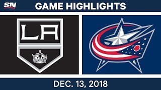 NHL Highlights | Kings vs. Blue Jackets - Dec 13, 2018