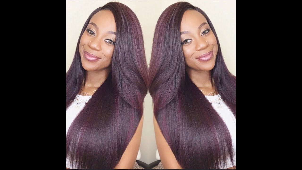 OUTRE NATURAL YAKY 24GOREGOUS PLUM COLOR YouTube
