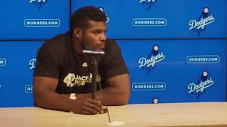 Yasiel Puig on returning to Dodger Stadium