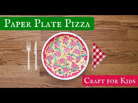 How to Make a Paper Plate Pizza Craft for Kids