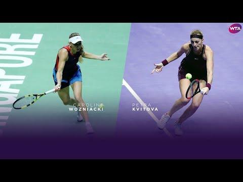 Caroline Wozniacki and Petra Kvitova | 2018 WTA Finals | Shots of the Day