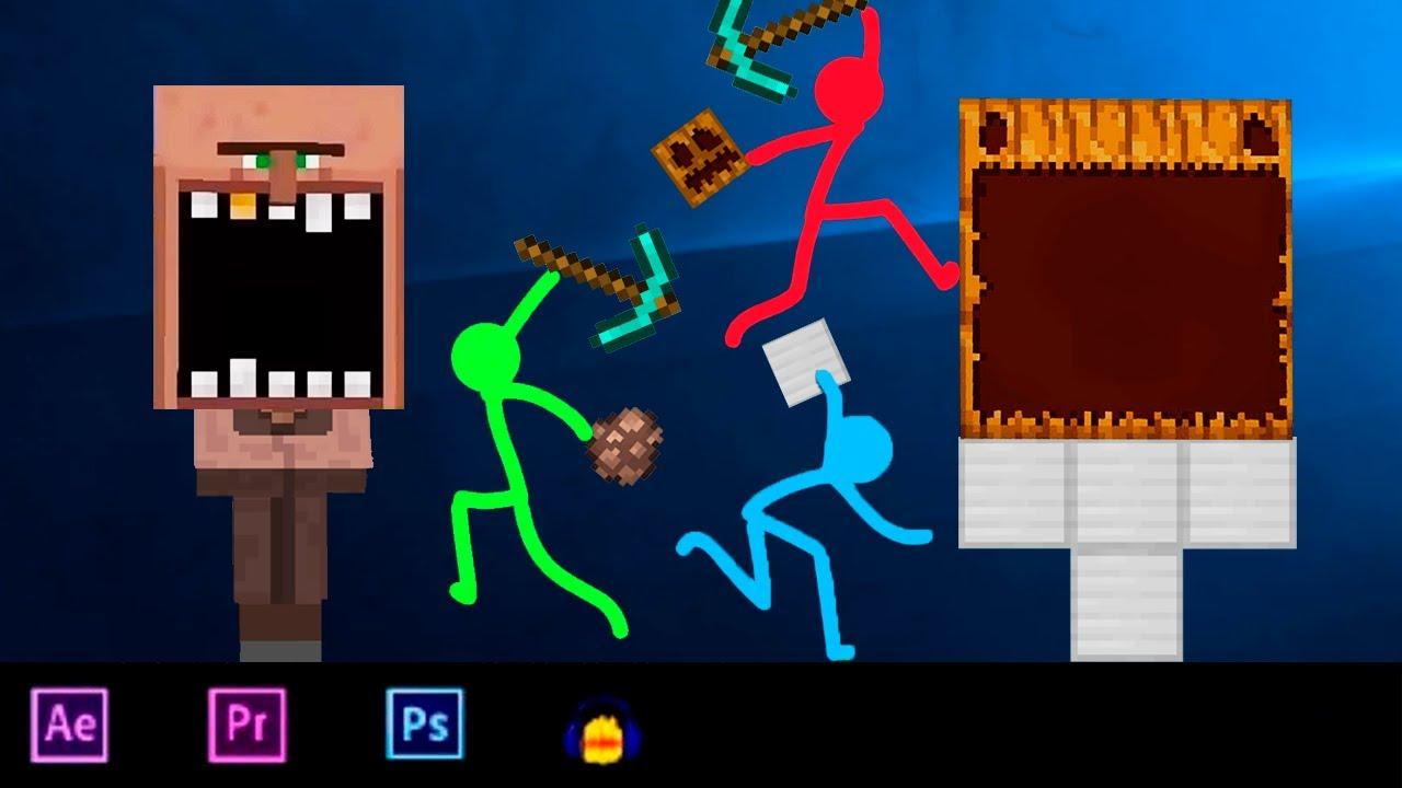 Animation VS Minecraft Shorts Stick Fight Stickman vs Minecraft Cartoon ⚡ Animasi vs Minecraft