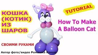 КОШКА (КОТ) ИЗ ВОЗДУШНЫХ ШАРОВ своими руками How to Make a Balloon Cat