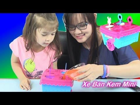 Đồ Chơi Trẻ Em - Xe Kem Mini - Máy Làm Kem Nghệ Thuật  Bí Đỏ Và Bé Peanut / Ice Pop Factory Sweetart