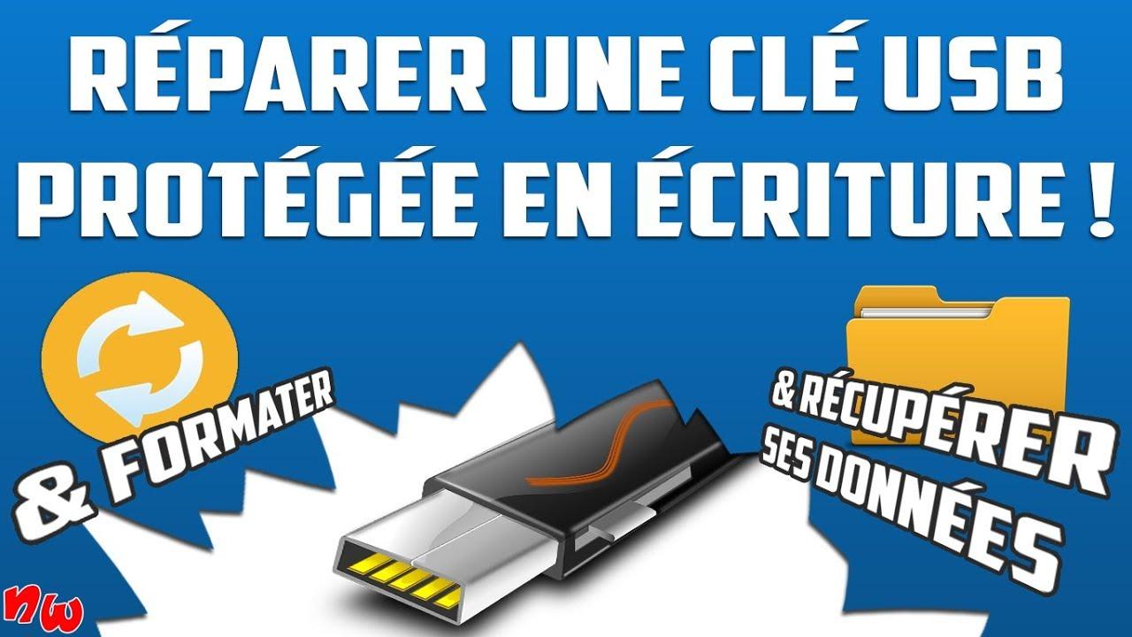 Réparer une clé USB protégée en écriture / récupérer ses données & formater