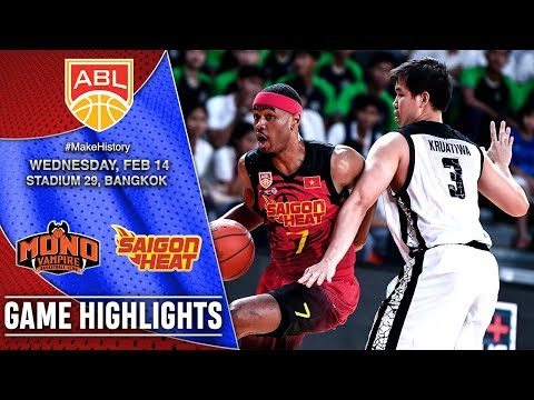 Mono Vampire Basketball Club vs Saigon Heat | HIGHLIGHTS | 2017-2018 ASEAN Basketball League