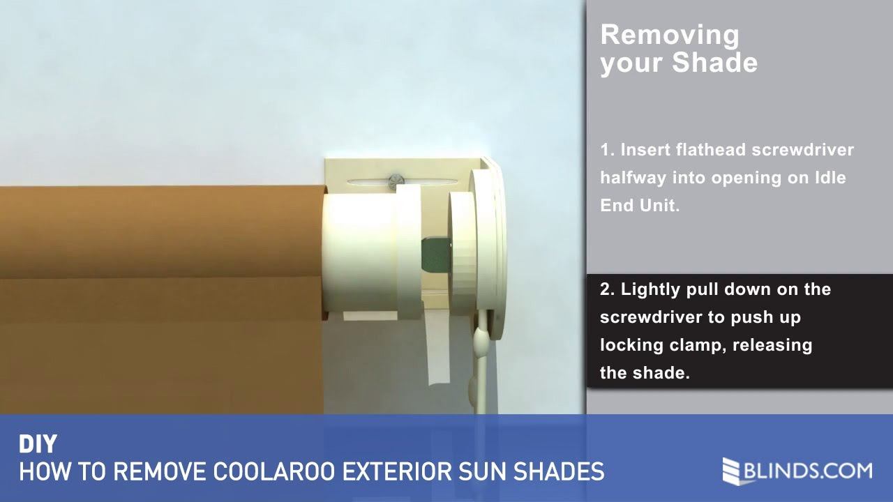 Coolaroo Exterior Sun Shade Removal - Blinds.com - YouTube