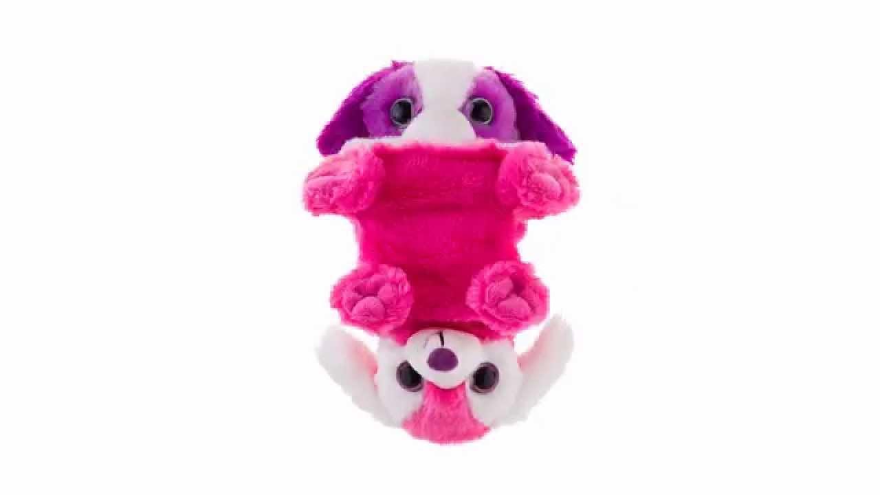 Switch A Rooz Hugs Kisses Purple Pink Puppy Stuffed Animal Wild