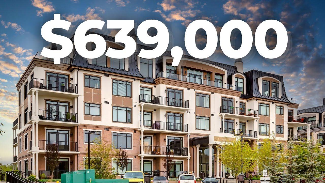 Touring this $575,000 Upscale Apartment Condo in Calgary's Quarry Park!