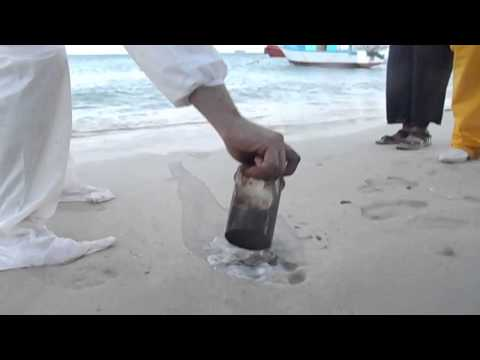 نسخة عن CLEANALL HEAVY with banker C fuel oil spilled on sand.MOV