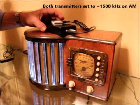 1939 Zenith 6D-317 World's Fair Glowing Glass Rod Radio