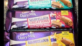 Cadbury Marvellous Creations Cookie Nut Crunch, Jelly Popping Candy & Banana Caramel Crisp - Canada