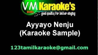 Aadukalam Ayyayo Nenju Tamil Karaoke