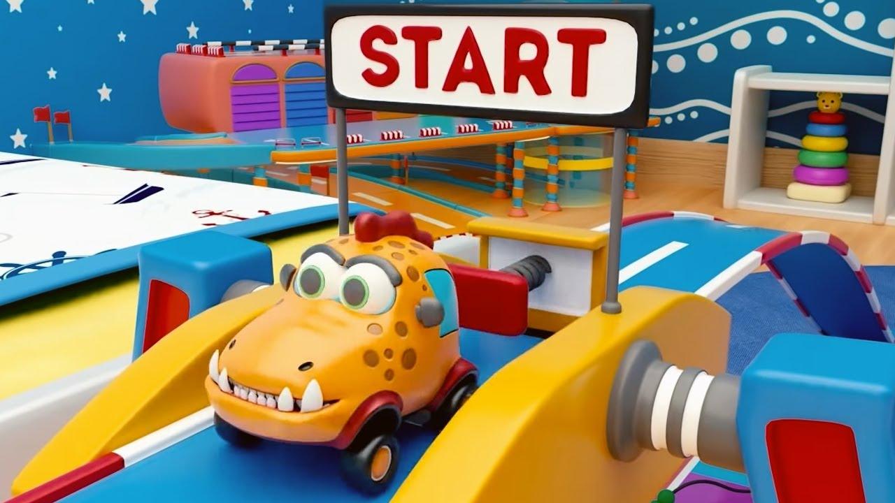 Машинки Мокас 🚕 Супер-трек 🚙 Развивающие мультики для детей и малышей 🚗