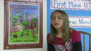 2009 Arbor Day National Poster Contest winner on how she and her family celebrate Arbor Day