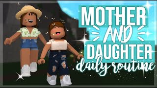 Mother and Daughter Daily Weekend Routine! | Roblox Bloxburg Roleplay