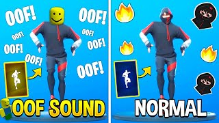 Best Fortnite Dances With OOF Sound (Roblox Death Sound) thumbnail
