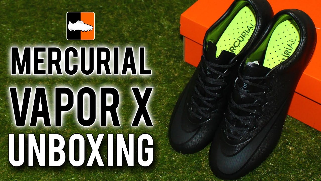 Nike Academy Pack Mercurial Vapor X Unboxing - Black-Out Edition
