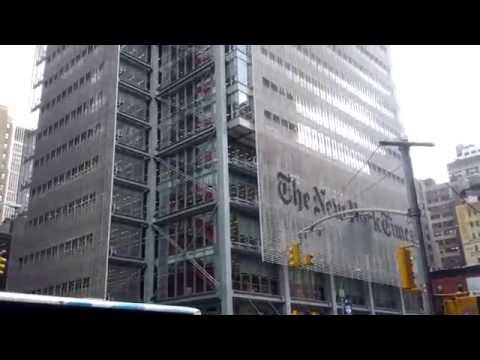 The New York Times Building on 8th Avenue and 41st Street, New York City, New York
