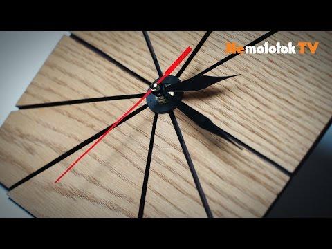 67. Дизайнерские часы из шпона дуба своими руками с PlayMat