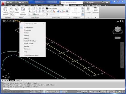 AutoCAD 3D - roads and kerbs - part 1