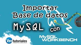 Importar base de datos mysql con Workbench