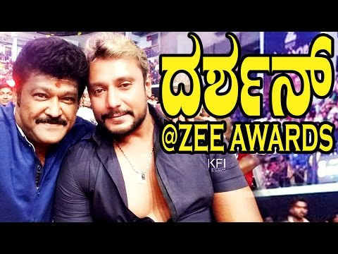Challenging Star Darshan at Zee Kannada Award Function 2016