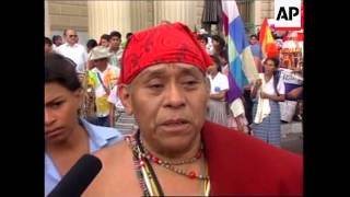 EL SALVADOR: CHRISTOPHER COLUMBUS DAY DEMONSTRATION