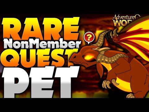 Free Non-Member Rare Quest Pet! AQW AdventureQuest Worlds