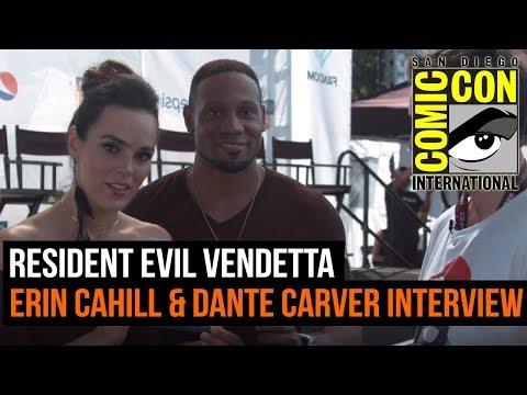 Resident Evil Vendetta   Erin Cahill and Dante Carver