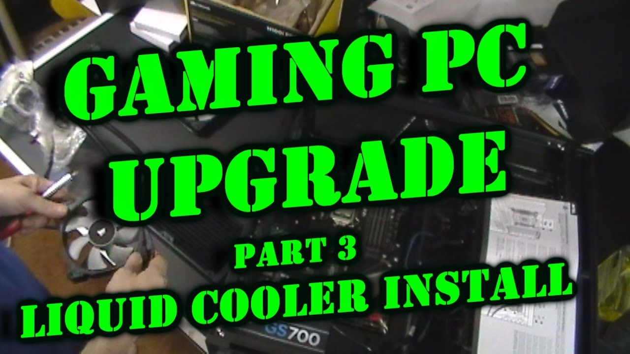 i7 9700k Upgrade PC Build for Gaming Rig Part 3 Liquid Cooler Install