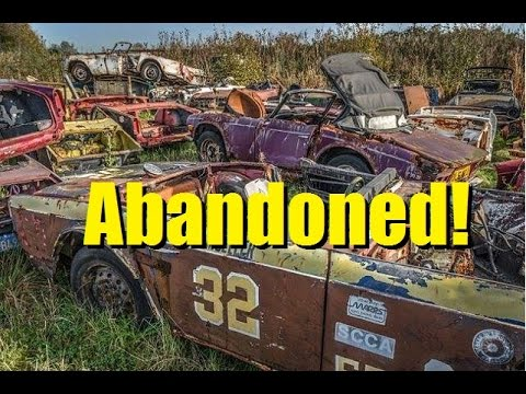 Abandoned Race Cars and Race Tracks!