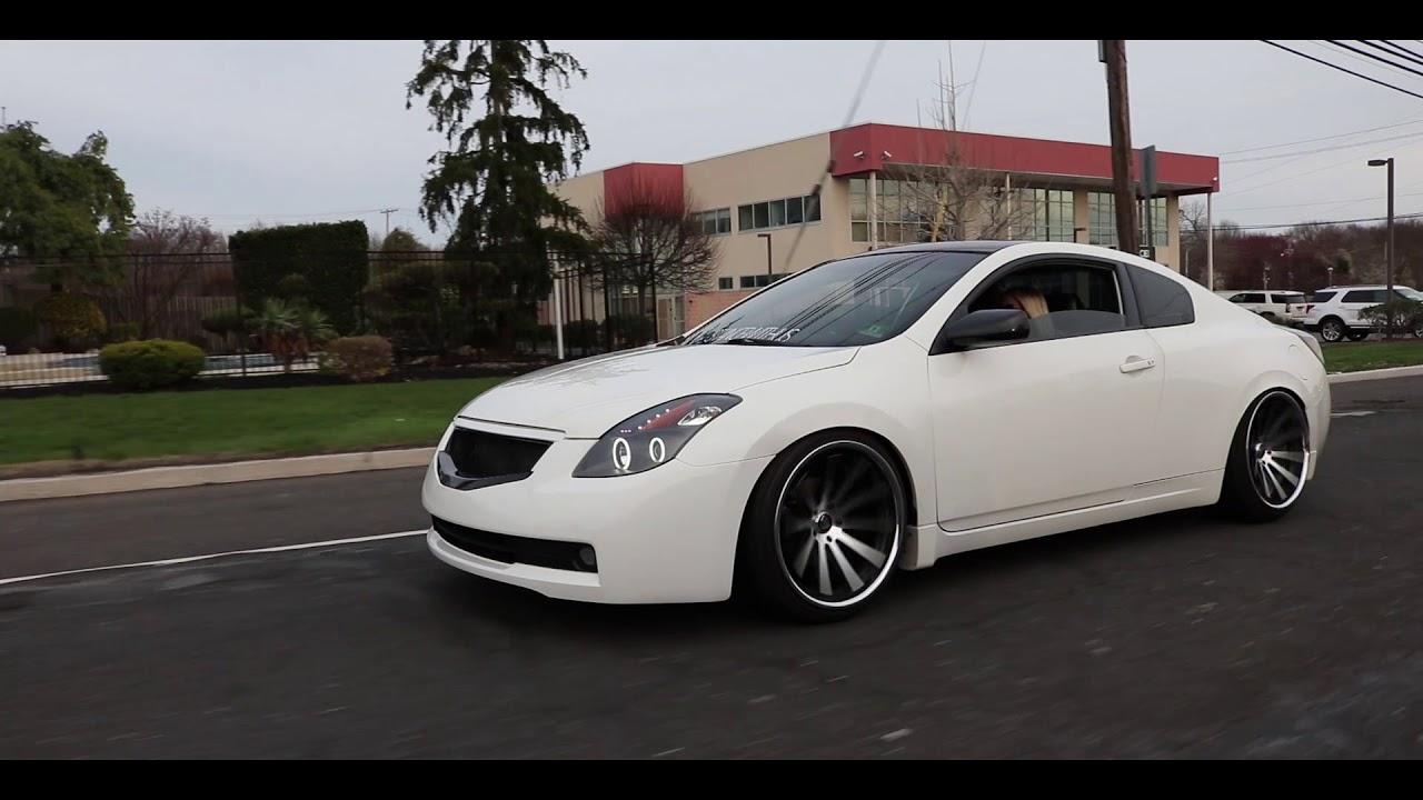 Nissan Altima Coupe >> Audra's Nissan Altima Coupe Slammed on Rohana Wheels - YouTube