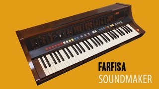 FARFISA SOUNDMAKER Analog Synthesizer 1979 | HD DEMO