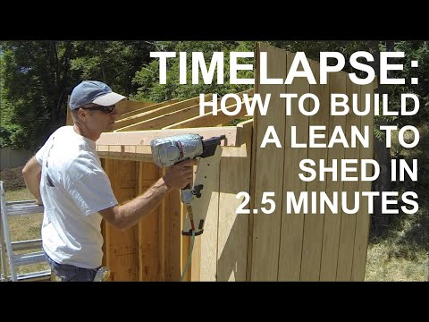 How To Build A 4x8 Lean To Shed In 2 Minutes 35 Seconds