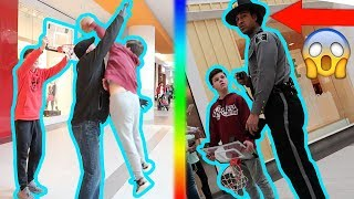 DUNKING OVER PEOPLE AT THE MALL! (SECURITY BANNED US)