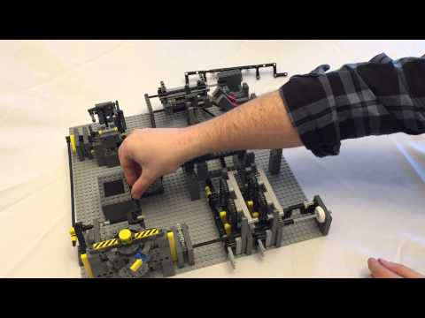 Lego Ball Factory Assembly Instructions - Part 7 - Bucket Unloader and Conveyor System