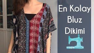 En Kolay Bluz Dikimi - Yeni Başlayanlara Dikiş Dersleri - Kendin Yap / DIY #06