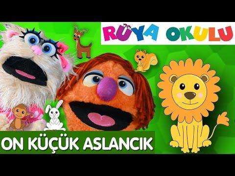 10 Küçük Aslancık - Sayılar - Türkçe Çocuk Şarkıları - Ten Little Indian - RÜYA OKULU