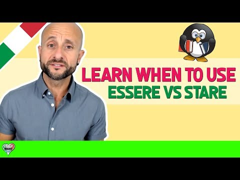 LEARN ITALIAN - Difference between ESSERE & STARE [Episode 22] - Conversational Italian