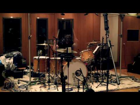 Tracking drums at British Grove studio A - London