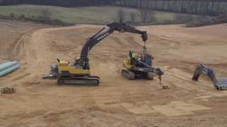 Convert a Volvo pipelayer PL3005D to a standard excavator --a time laps