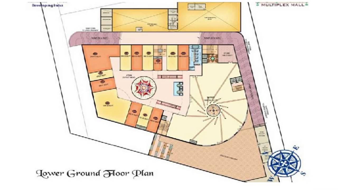 Amrapali kanha multiplex mall nh 2 vrindavan mathura for Multiplex floor plans