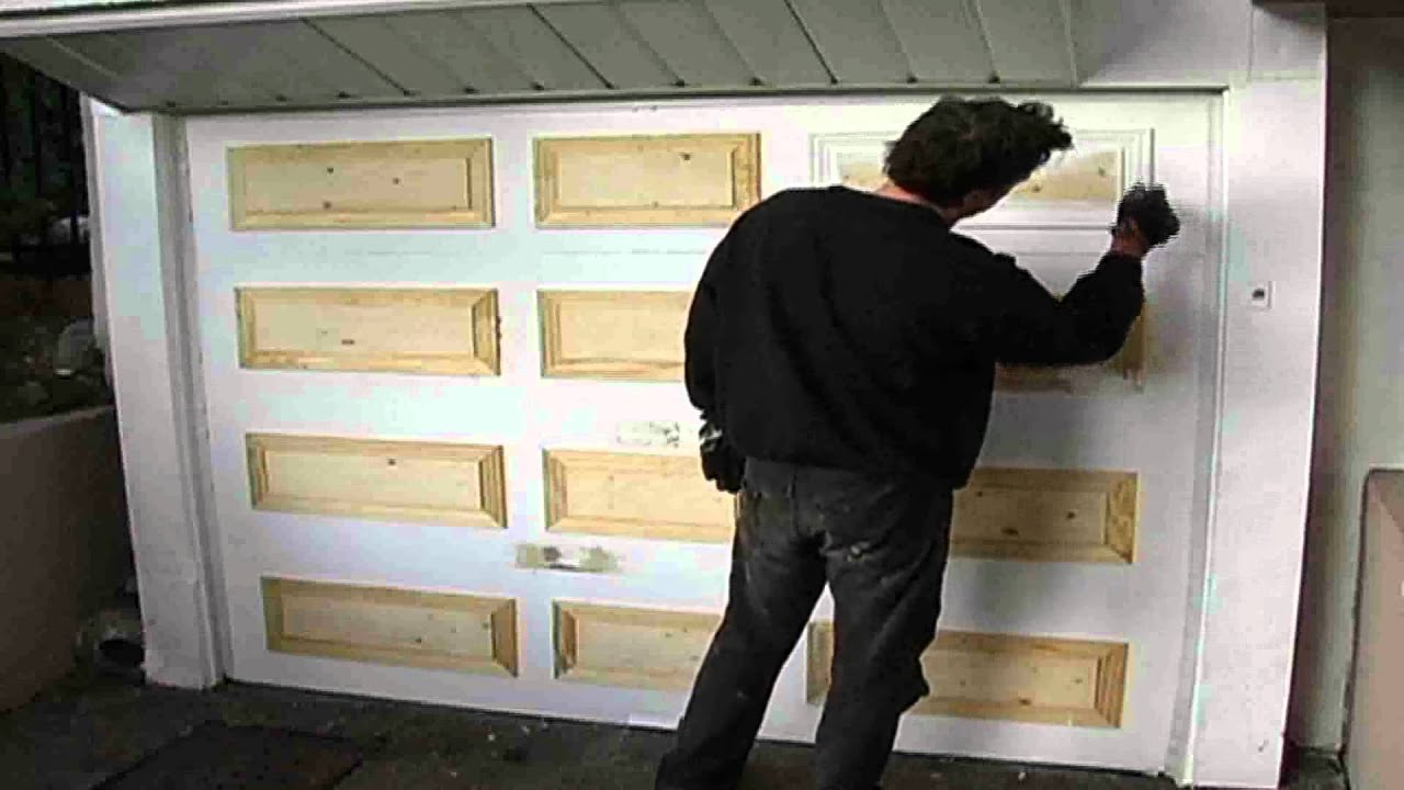 diy garage doorgarage door makeover  YouTube