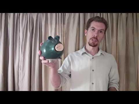 Wheel Thrown Piggy Bank - Red Circle Pottery
