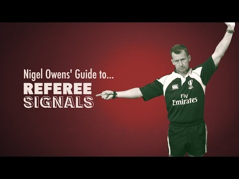 Nigel Owens' Guide to Rugby Referee Signals