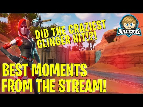 MY BEST CLINGER HIT EVER😲 // Stream Highlights // Fortnite Battle Royale