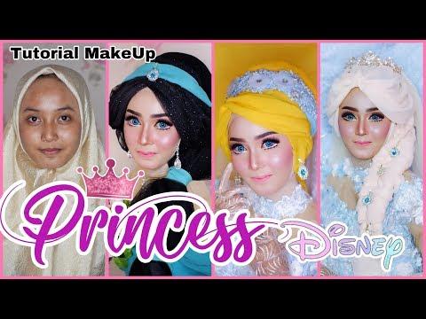 Tutorial Make Up PRINCESS DISNEY ❤️ Jasmine, Cinderella, Elsa Frozen