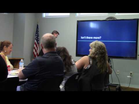 Treasurer Darren M. Bailey addresses the Union County Chamber of Commerce