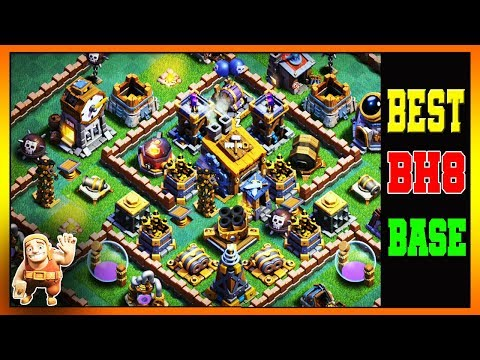 MOST INSANE BH8 BASE | BEST BUILDER HALL 8 BASE 7000+ TROPHIES TESTED✔ | NEW | 2019 - COC